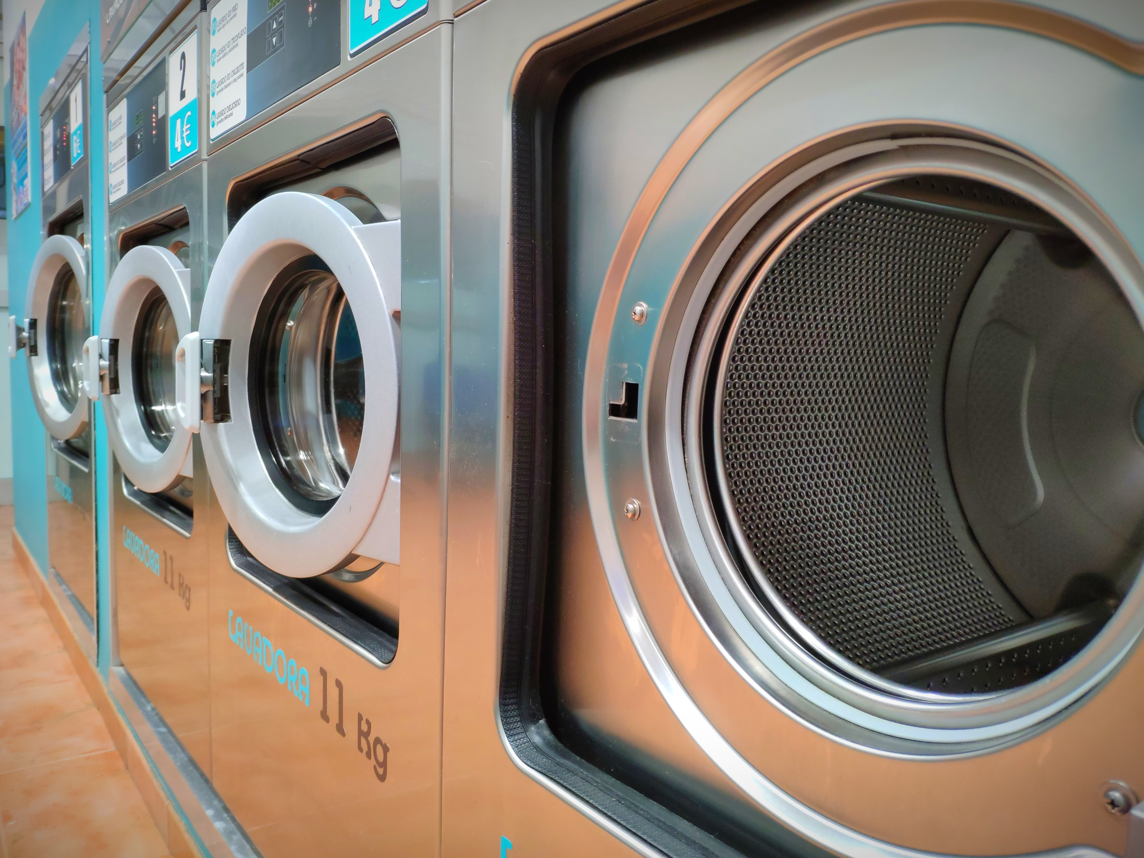 Washing machines of large capacity.